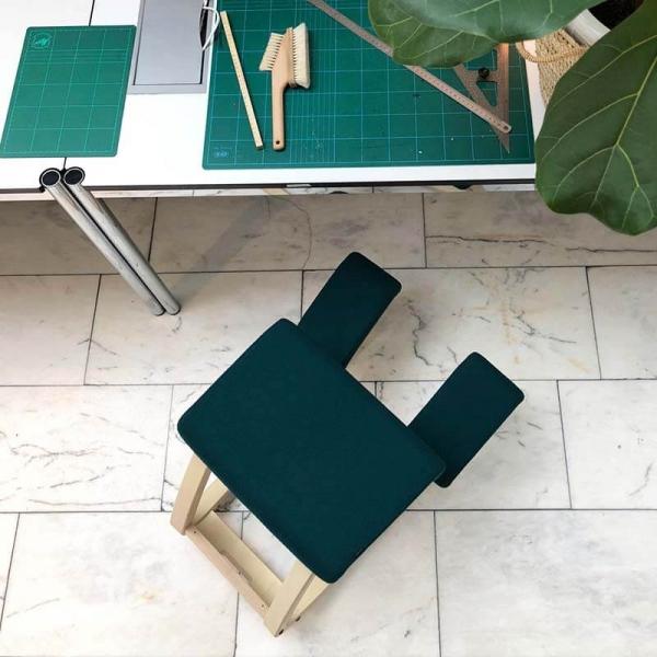 Chaise mal de dos pour le bureau en tissu bleu vert - Variable Varier® - 16