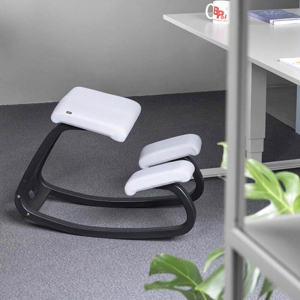 Chaise à bascule ergonomique en tissu blanc - Variable Varier® - 6