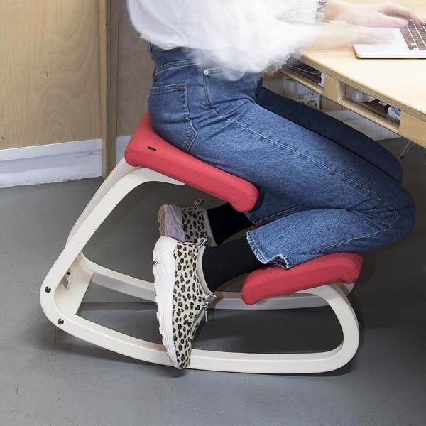 Fauteuil de bureau ergonomique mal de dos en tissu rouge - Variable Varier® - 7