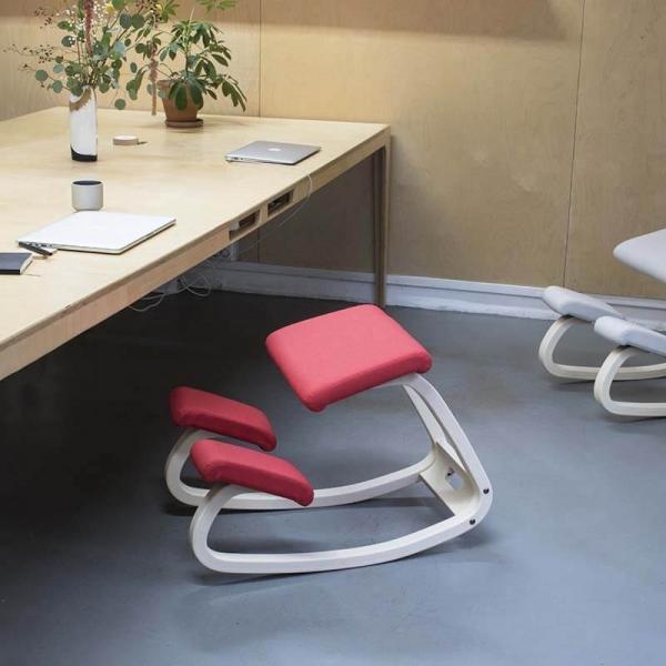 Siège ergonomique dos en tissu rouge - Variable Varier® - 13