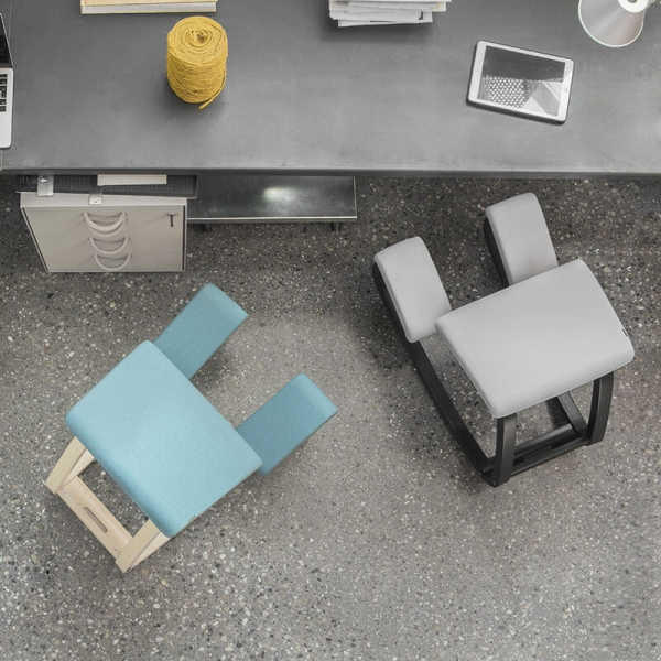 Siège de bureau mal de dos en tissu bleu ou gris - Variable Varier® - 18