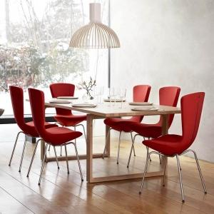Chaise design ergonomique en tissu et métal - Invite Varier®