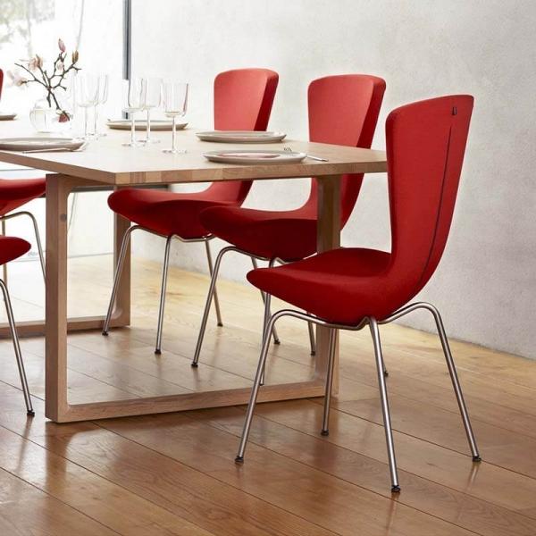 Chaise ergonomique dossier haut rouge - Invite Varier® - 2