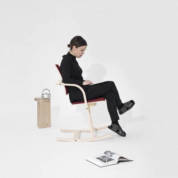 Chaise confortable de bureau bordeaux - Actulum Varier® - 6