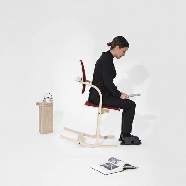 Siège ergonomique dos couleur bordeaux - Actulum Varier® - 7