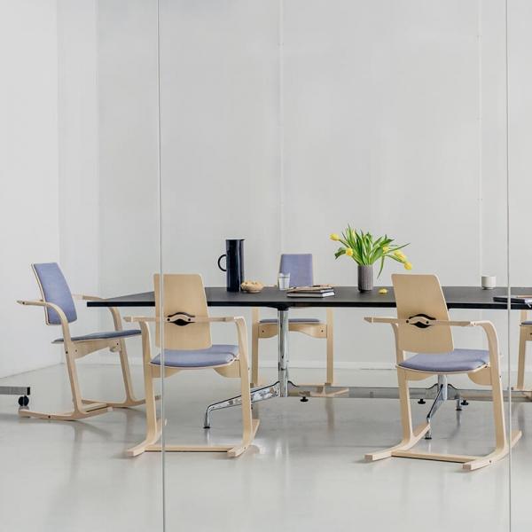 Chaise de bureau ergonomique design bleu ciel - Actulum Varier® - 5