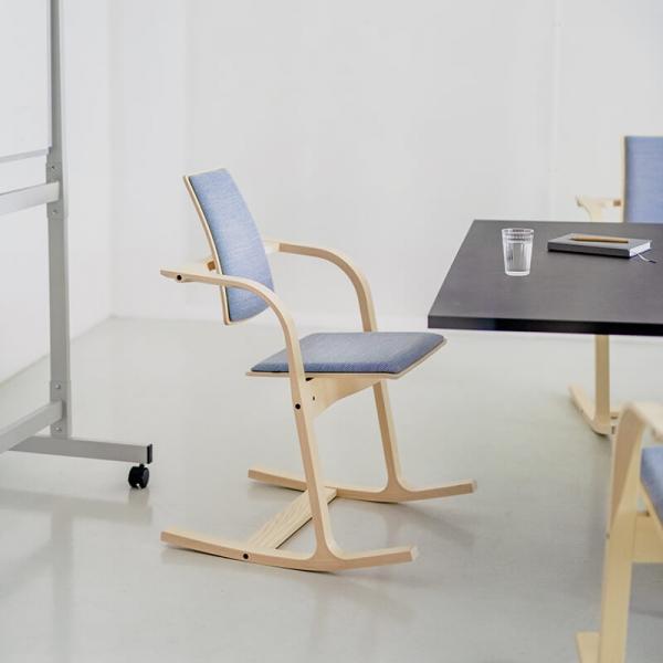 Chaise de bureau ergonomique à bascule en tissu bleu - Actulum Varier® - 2