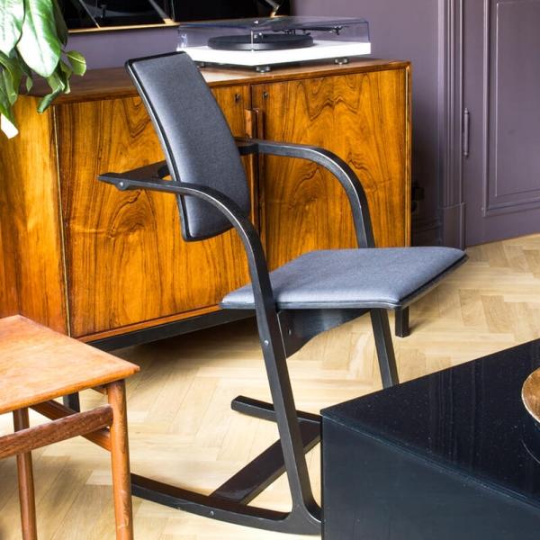 Chaise de travail ergonomique tissu noir - Actulum Varier® - 10