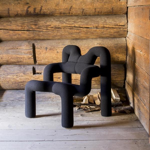 Fauteuil relax design en tissu noir - Ekstrem Varier® - 10
