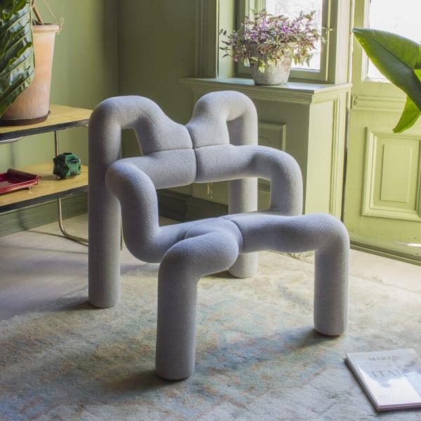Fauteuil design confortable en tissu gris - Ekstrem Varier® - 8