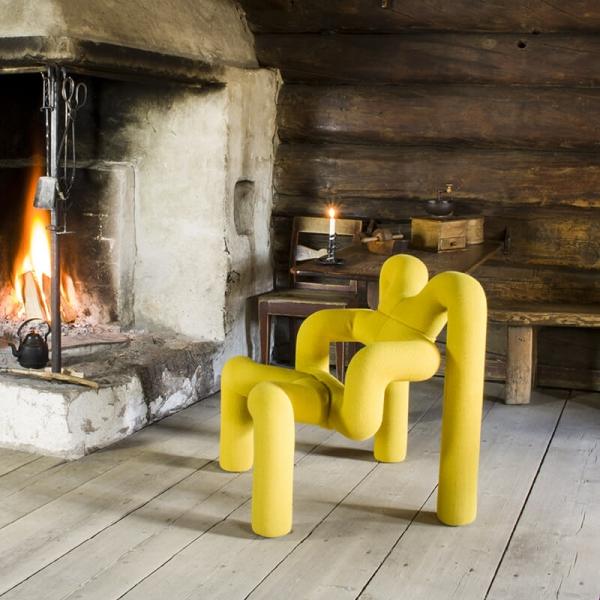 Fauteuil ergonomique design en tissu jaune - Ekstrem Varier® - 9