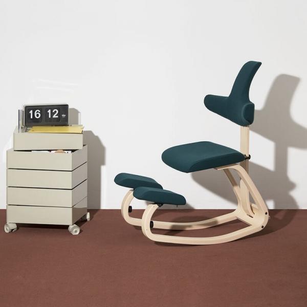Siège assis genoux avec dossier bleu pétrole - ThatSit Varier® - 2