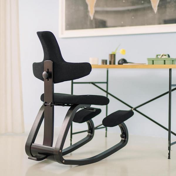 Chaise de bureau mal de dos noire - ThatSit Varier® - 8