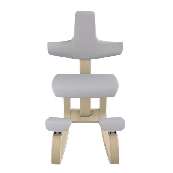 Chaise de travail à bascule en tissu gris - ThatSit Varier® - 25