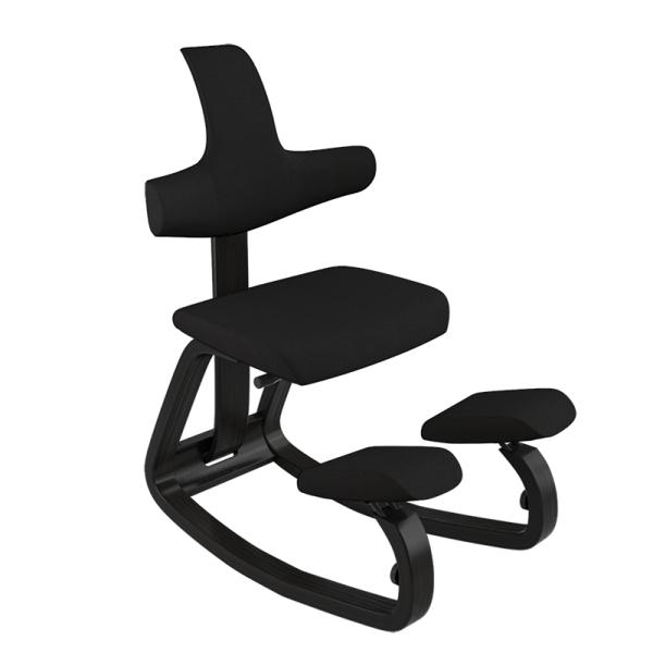 Fauteuil adapté pour mal dos en tissu noir - ThatSit Varier® - 11