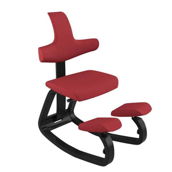 Chaise de bureau ergonomique à bascule en tissu rouge - ThatSit Varier® - 17