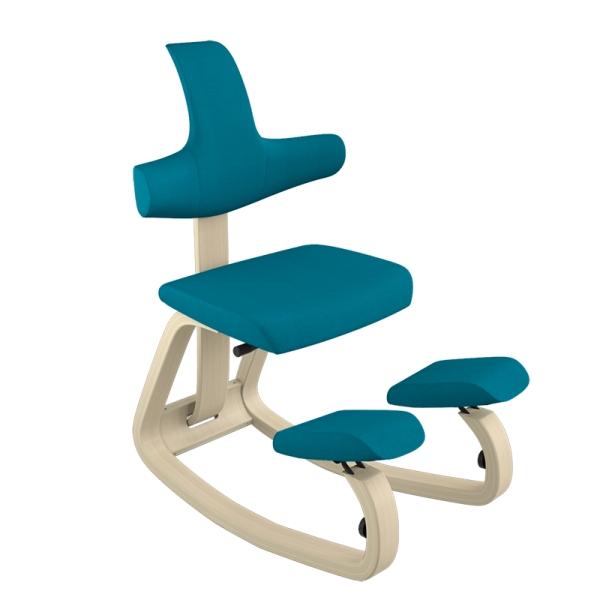 Chaise avec dossier ergonomique bleue - ThatSit Varier® - 23