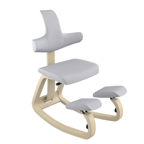 Chaise de bureau à bascule en bois et tissu gris - ThatSit Varier® - 26