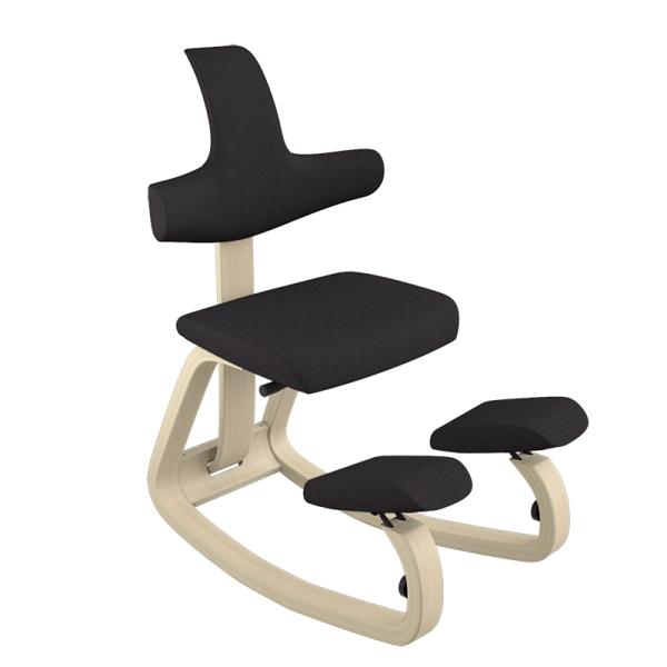 Chaise assis genoux avec dossier pour le bureau noire - ThatSit Varier® - 29