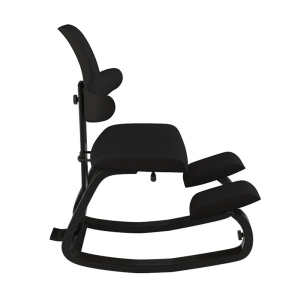 Chaise anti mal de dos pour le bureau en tissu noir - ThatSit Varier® - 12