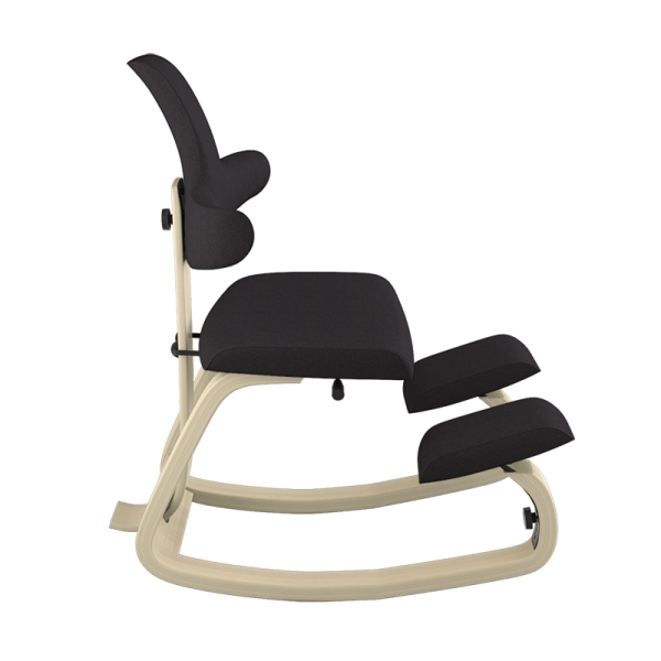 Chaise assise genoux en tissu noir - ThatSit Varier® - 30