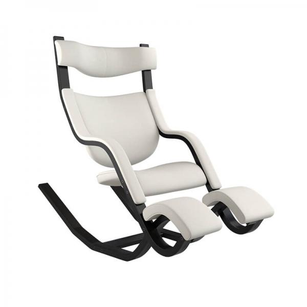 Fauteuil de relaxation bois et tissu blanc - Gravity Varier® - 17