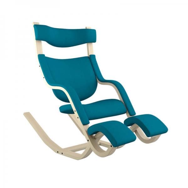 fauteuil stressless inclinable en tissu bleu - Gravity Varier® - 29