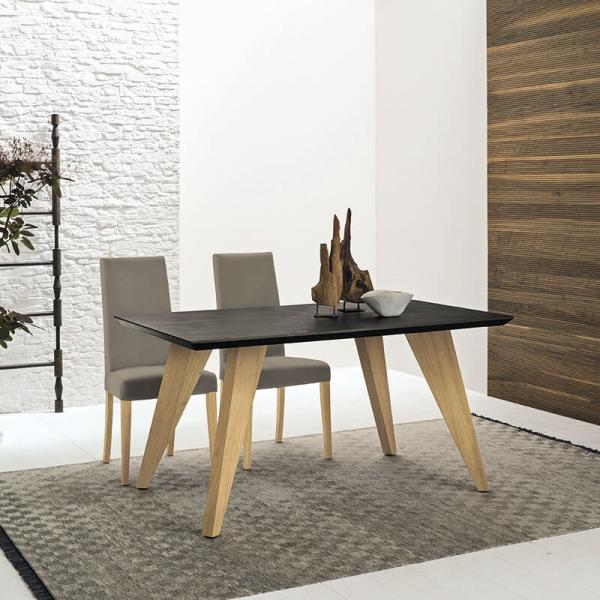Table design rectangulaire en ecomalta et bois - Raw 5 - 5
