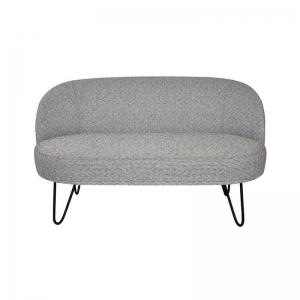 Canapé 2 places gris tendance made in France avec pieds épingle - Léa