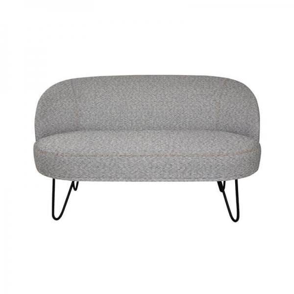 Canapé 2 places gris tendance made in France avec pieds épingle - Léa - 1