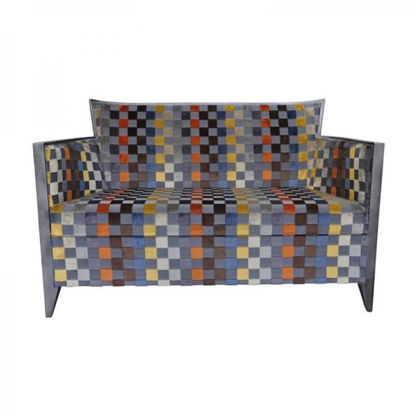 Canapé 2 personnes art déco à motifs géométriques – Nathan - 4