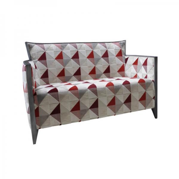 Petit canapé style art déco en tissu à motifs - Nathan - 2