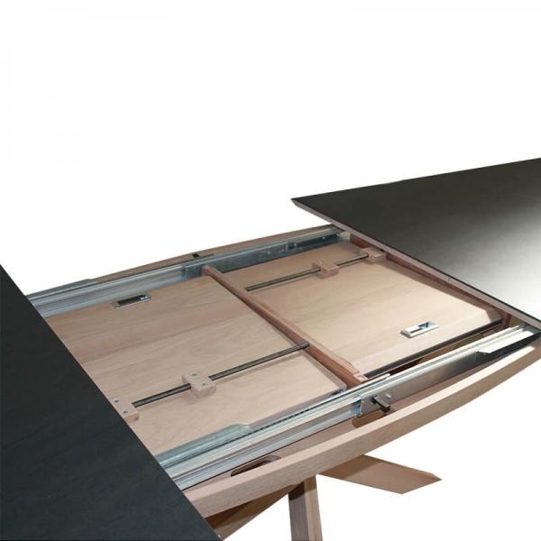 Table extensible ovale en céramique et bois - Elliptica - 3