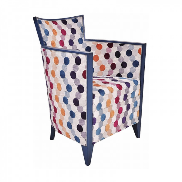 Fauteuil en tissu à motifs multicolores made in France - Nathan - 21