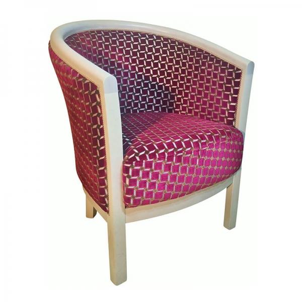 Fauteuil de salon en tissu rose made in France - Julien - 20