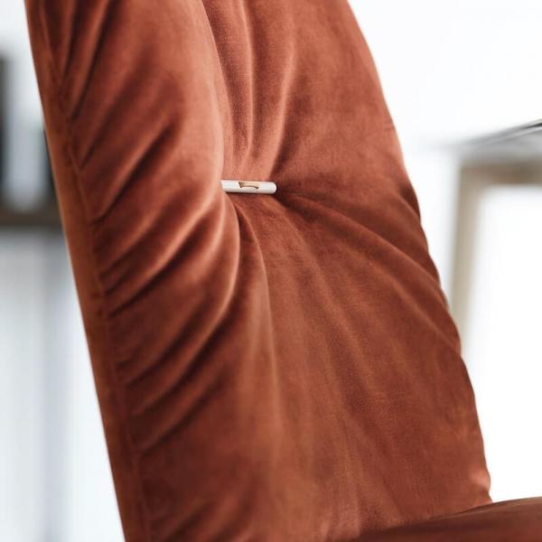 Chaise en tissu et pieds bois - Aura Mobitec® - 6