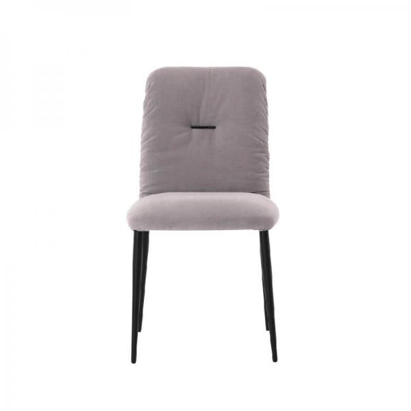 Chaise tendance en tissu et pieds métal - Aura Mobitec® - 2