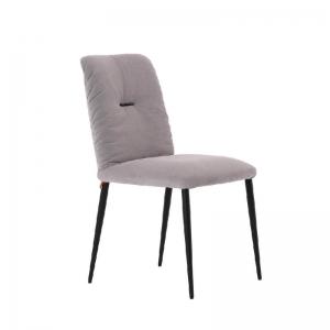 Chaise moderne en tissu et pieds métal - Aura Mobitec®