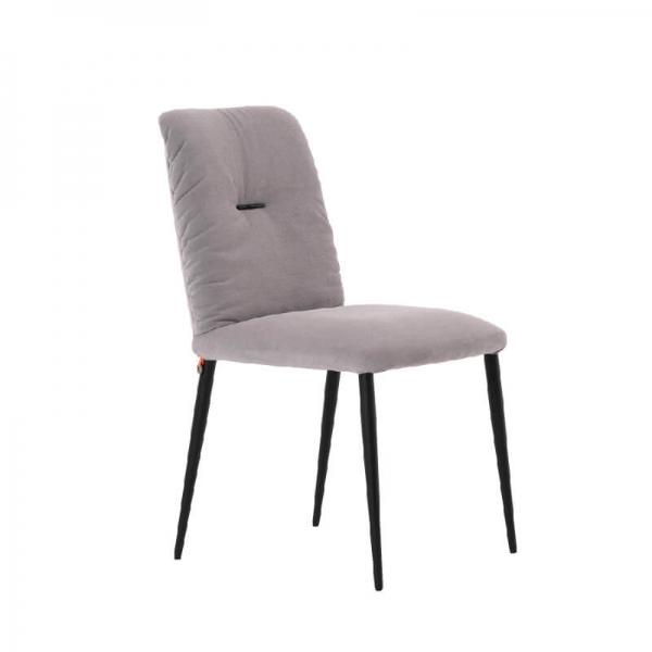 Chaise moderne en tissu et pieds métal - Aura Mobitec® - 1