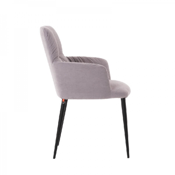 Chaise moderne tissu et pieds en métal - Aura Mobitec® - 3
