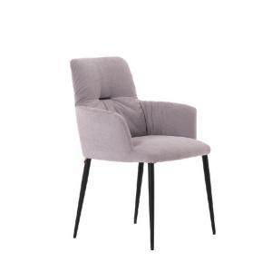 Chaise avec accoudoirs moderne tissu et pieds en métal - Aura Mobitec®