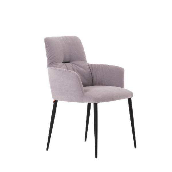 Chaise avec accoudoirs moderne tissu et pieds en métal - Aura Mobitec® - 1