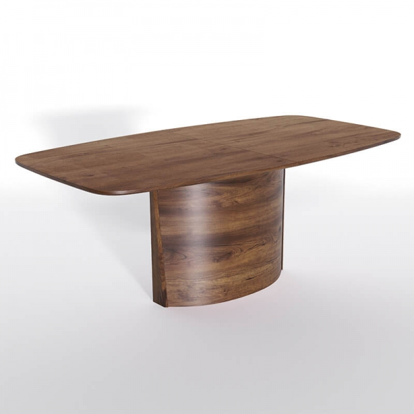 Table avec allonges pied central style scandinave - SM116-117 - 2
