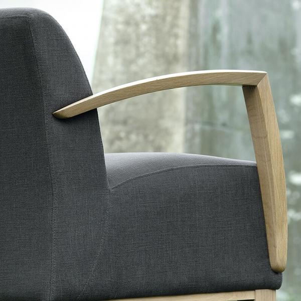 Fauteuil Mobitec confortable en tissu gris - Borneo - 5