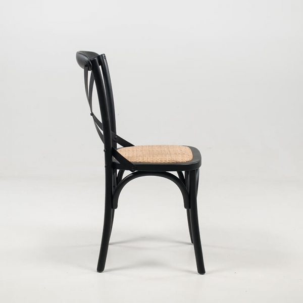 Chaise bistrot en bois noir style vintage - Cabaret - 4