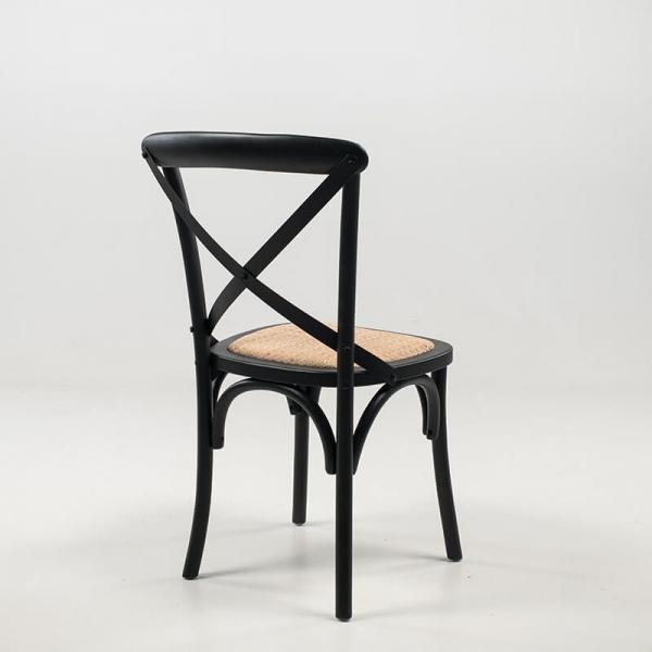 Chaise rétro noire en bois de bouleau - Cabaret - 7