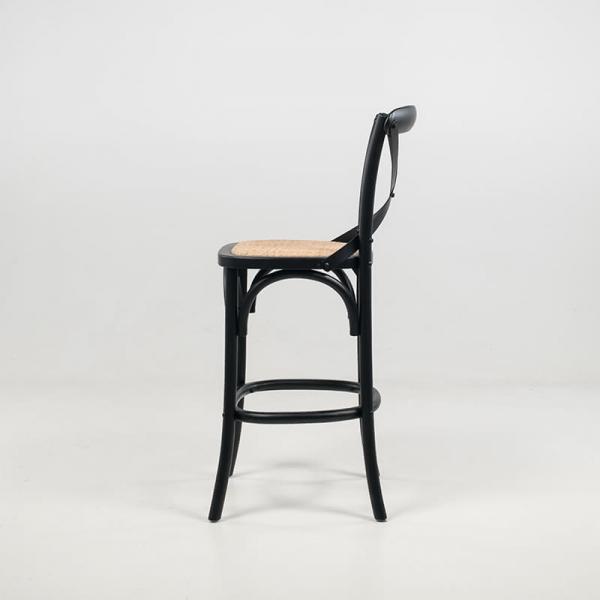 Tabouret vintage en bois noir hauteur snack - Cabaret - 5