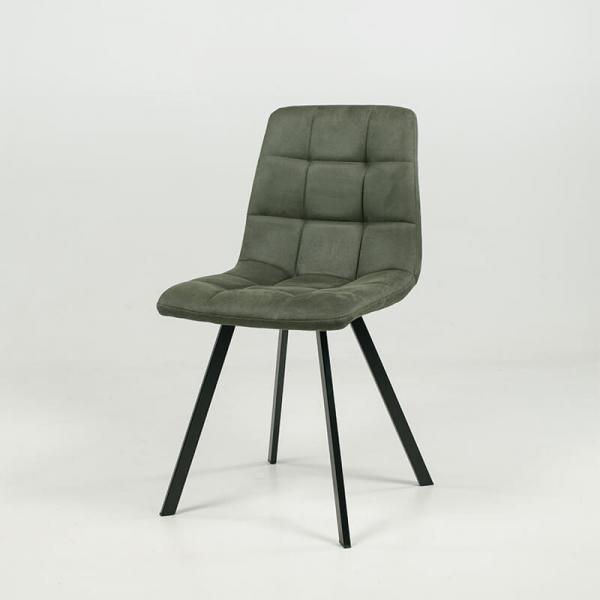 Chaise rembourrée et matelassée verte style moderne - Carvi - 11