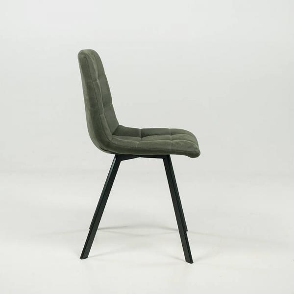 Chaise verte matelassée et rembourrée - Carvi - 13