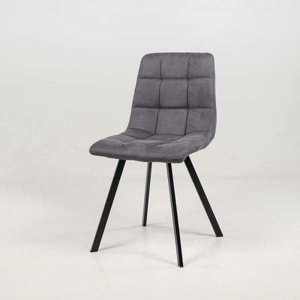 Chaise matelassée grise style moderne - Carvi - 3